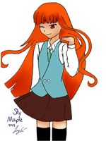 Orange Hair by skymaple