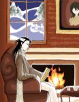 Reading Byakuya by puppetdemon