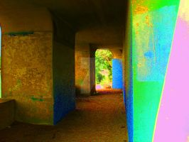 Train Overpass Amityville w/saturated color by alphanathan