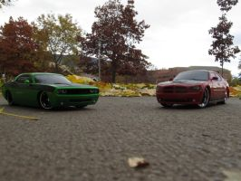 Charger and Challenger by KateKannibal
