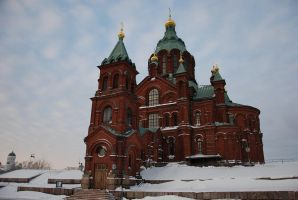 Uspenski Cathedral in winter v2 by hoshitsu
