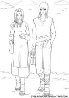 SasuSaku combined to sketch doujinshi Night Flower by byBlackRose