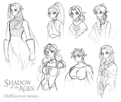 CRPG Portrait Sketches by foxlee