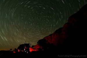 Star Trails in the Canyonlands by La-Vita-a-Bella