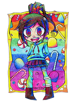 Vanellope - Traditional by Krooked-Glasses