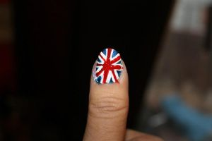 union jack nails by Agathanaomi