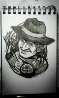 4th Doctor: warm-up art by rori
