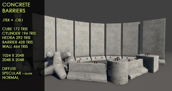 Free concrete barriers by Nobiax