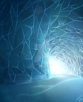 Landscapes - Ice Tunnel by nocturnefox
