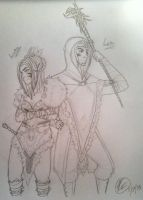 Luka and Loki the Wood elf of Tamriel by BaqiLiv