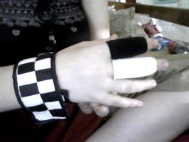 My roxas wrist and finger bands :3 by sonadow4eve