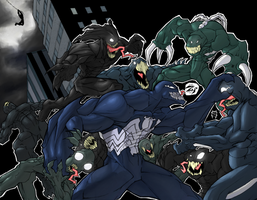 Venom Fight Colored by ShadowMaginis