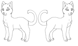 Oasis Cat Lineart -Free- by Addictivemind