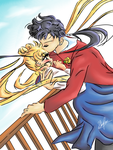 Seiya and his Odango by Ebsie
