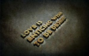 Love quote 3d effect by syedmaaz