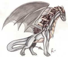 The Great Silver Dragon by KruegerChild