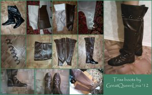 Triss Merigold boots tutorial by GreatQueenLina