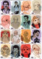 STAR WARS Sketchcards - Lando and Co by DenisM79