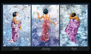 Faith, Charity, Hope Triptych by jensequel