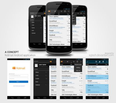 hotmail for android :A Concept by aglash