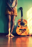 Me and my Guitar by scorpiongrd