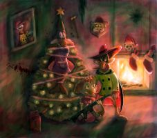 Christmas art for gil-of-awesomeness by Xanadu7