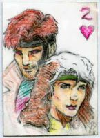 Sketch Card: 2 of Hearts by JasonShoemaker