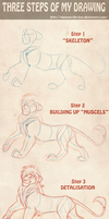 Tutorial- Three Steps of my Drawing by Mganga-The-Lion