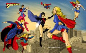 Supergirls by blksuperman2