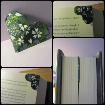 Origami Heart Bookmark by allyalltheway