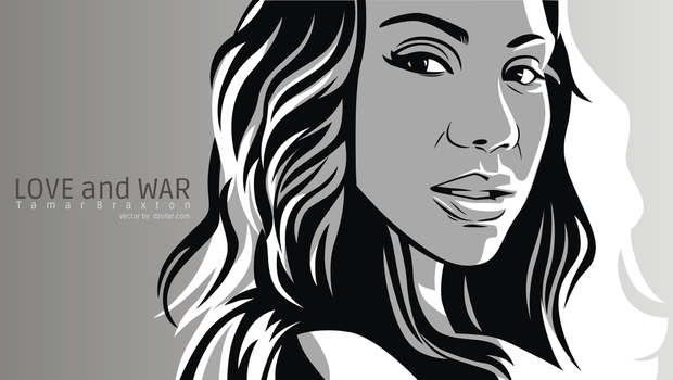 Tamar Braxton Line Art Vector by ndop