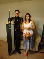 Zack cosplay with gf as Aerith by Grandmasterstevo
