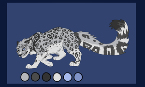 Snow Leopard Adoptable by Aevaln