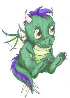 Baby Dragon (first attempt) by 2sisters34