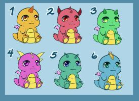 Dragon Baby Adoptables - 50 pts OPEN - by Meep-and-Mushrat