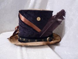 Steampunk Brown top hat by Serata