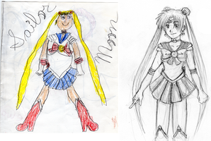 Sailor Moon: Before and After by bad-exposition