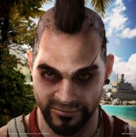 Far Cry 3: Vaas Key Art by meduzarts