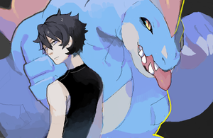 PKMNR, at with gray by milkkun