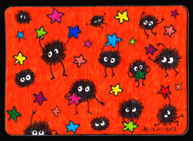 Cute Soot Sprites ACEO 47 by Siobhan68
