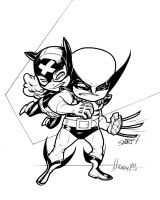 Kitty and Wolvie by olivernome