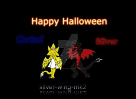 Happy Halloween everyone! From Silver and Carisol by silver-wing-mk2