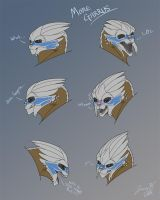 Garrus expressions by hellfirefanatic
