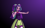MLP EQG - Aria Blaze takes the stage by FunkyBacon