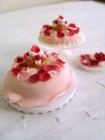 Miniature Rose Petal Cake 1-12 by Snowfern