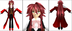 MMD- Grell Model WIP by CutiepieSpecter
