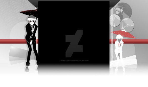 Shiro K-Project Youtube Background for 013Nika by theWhiteDEVIL66
