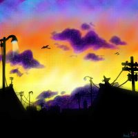 Celedon City Sunset by Koolaid-Girl