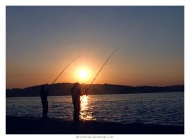 fishing at Beykoz.. by siliconesouls