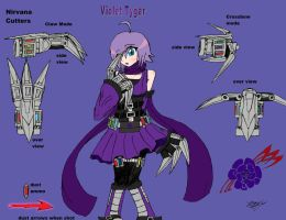Violet Tygar- RWBY OC team VOID by Xengix008